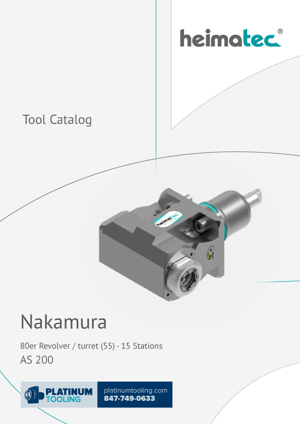 Nakamura AS 200-15 Station Heimatec Catalog for Live and Static Tools