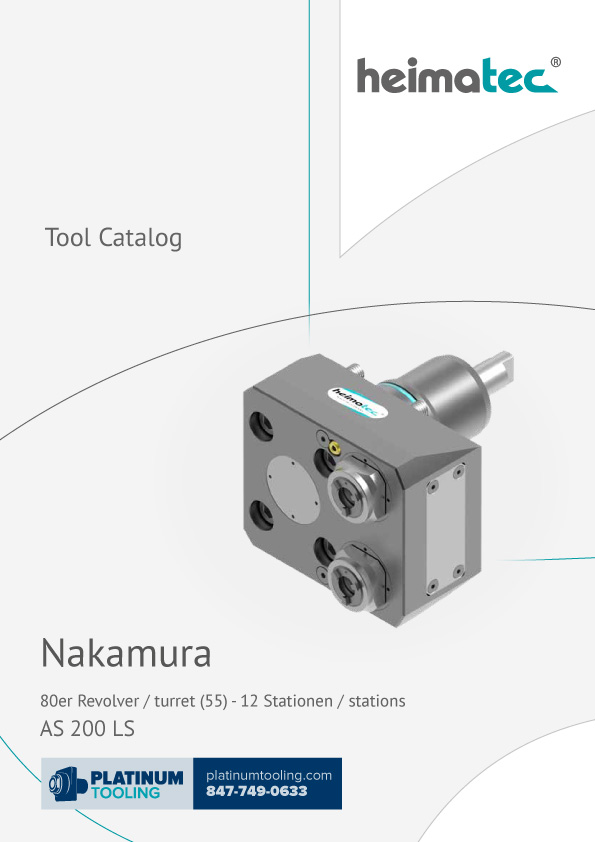 Nakamura AS 200 LS-12 Station Heimatec Catalog for Live and Static Tools