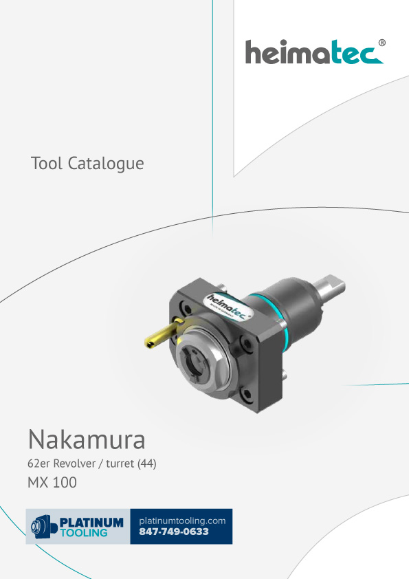 Nakamura MX 100 BMT 44 Heimatec Tool Catalog for Live and Static Tools