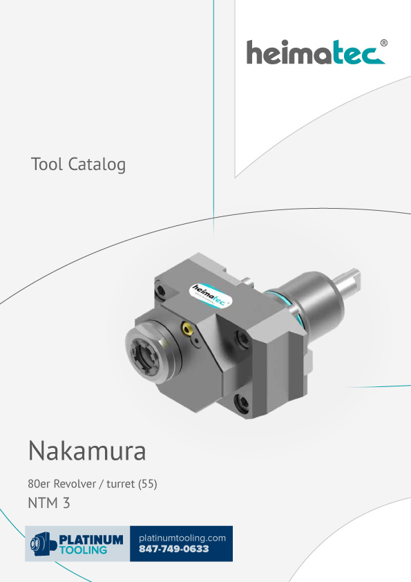 Nakamura NTM 3 BMT 55 Heimatec Catalog for Live and Static Tools