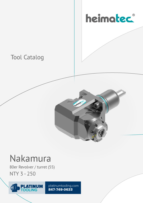 Nakamura NTY 3-250 BMT 55 Heimatec Catalog for Live and Static Tools