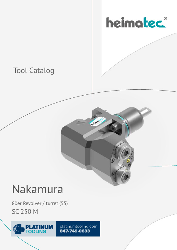 Nakamura SC 250 M BMT 55 Heimatec Catalog for Live and Static Tools