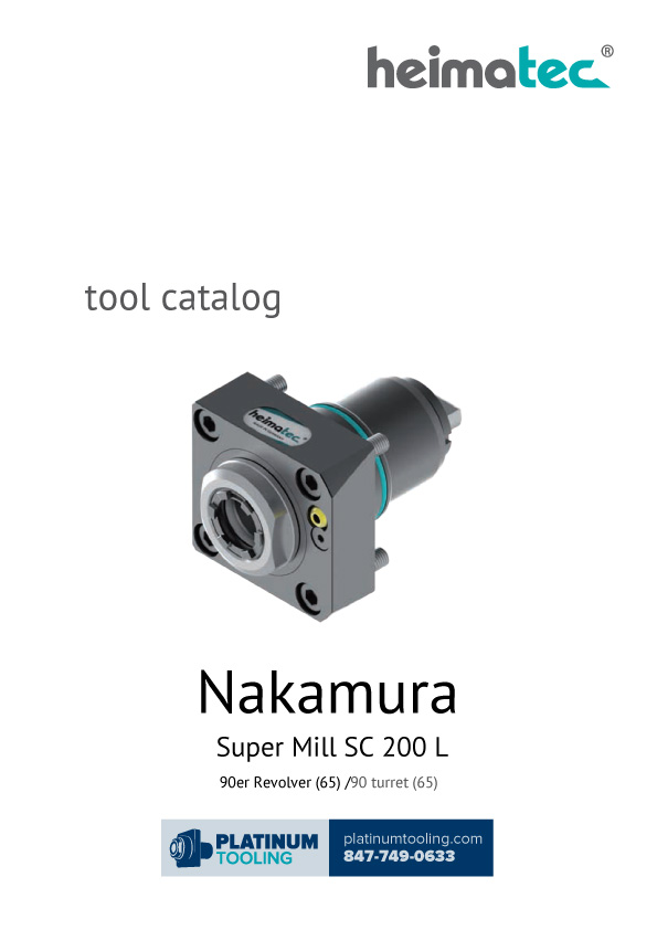 Nakamura Super Mill SC 200 L Heimatec Catalog for Live and Static Tools