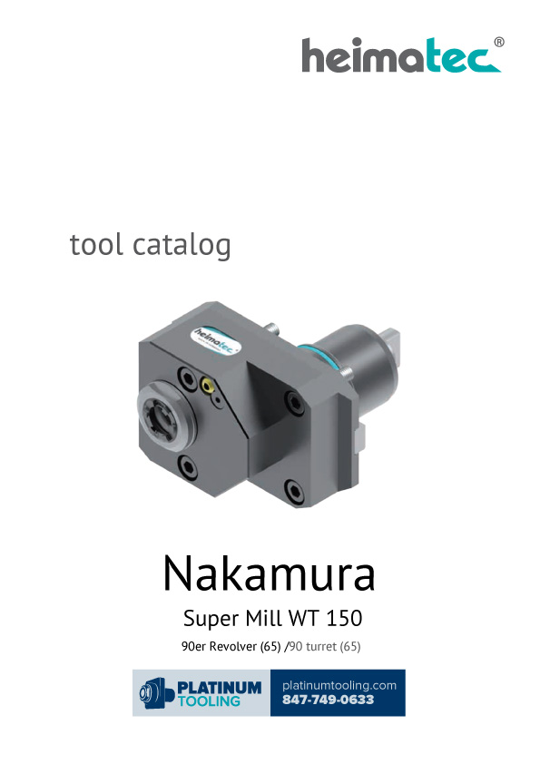 Nakamura Super Mill WT 150 Heimatec Catalog for Live and Static Tooling