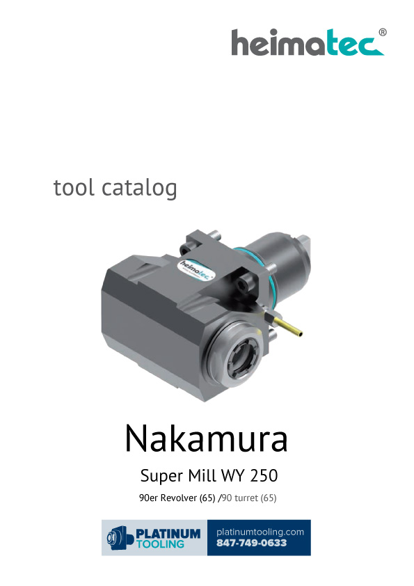 Nakamura Super Mill WY 250 Heimatec Catalog for Live and Static Tools