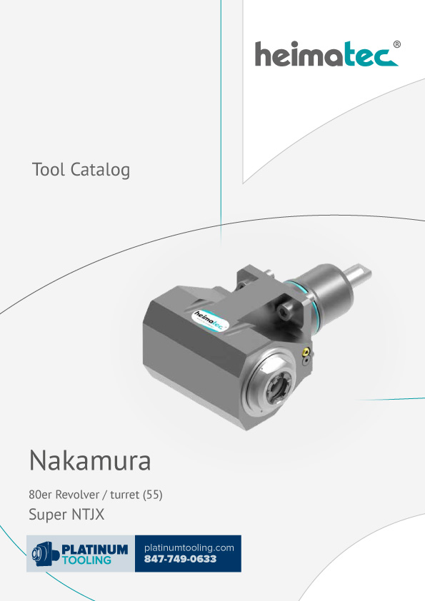 Nakamura Super NTJX BMT 55 Heimatec Catalog for Live and Static Tools