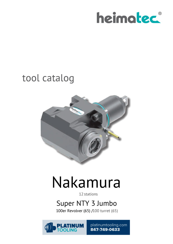 Nakamura Super NTY 3 Jumbo Heimatec Catalog for Live and Static Tools