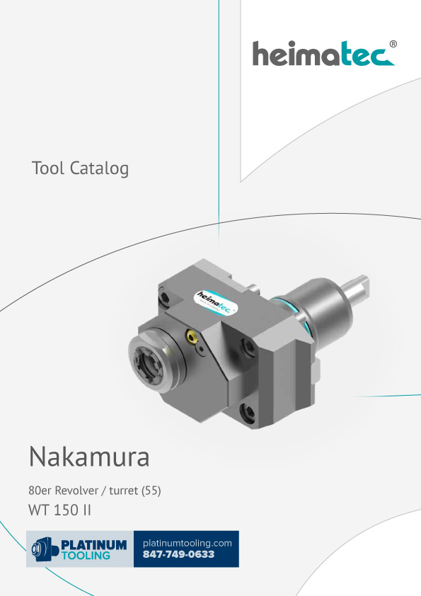 Nakamura WT 150 II BMT 55 Heimatec Catalog for Live and Static Tools