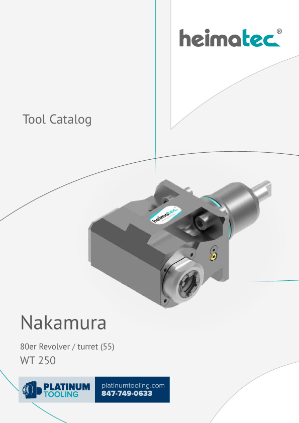 Nakamura WT 250 BMT 55 Heimatec Catalog for Live and Static Tools