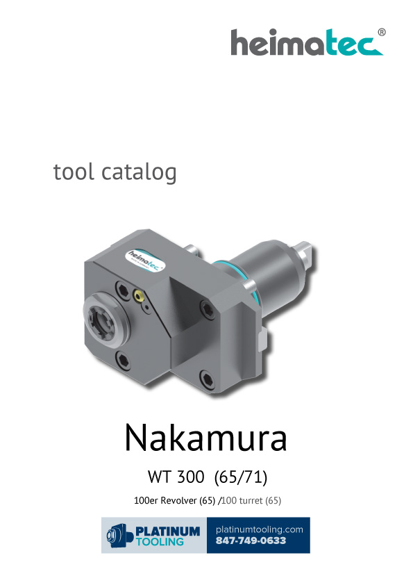 Nakamura WT 300 (65-71) Heimatec Catalog for Live and Static Tools
