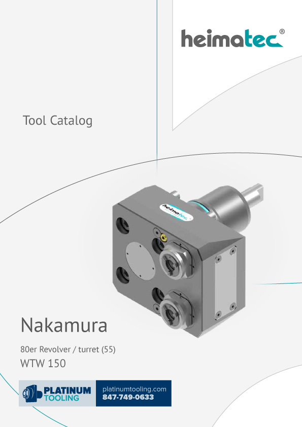 Nakamura WTW 150 BMT 55 Heimatec Catalog for Live and Static Tools
