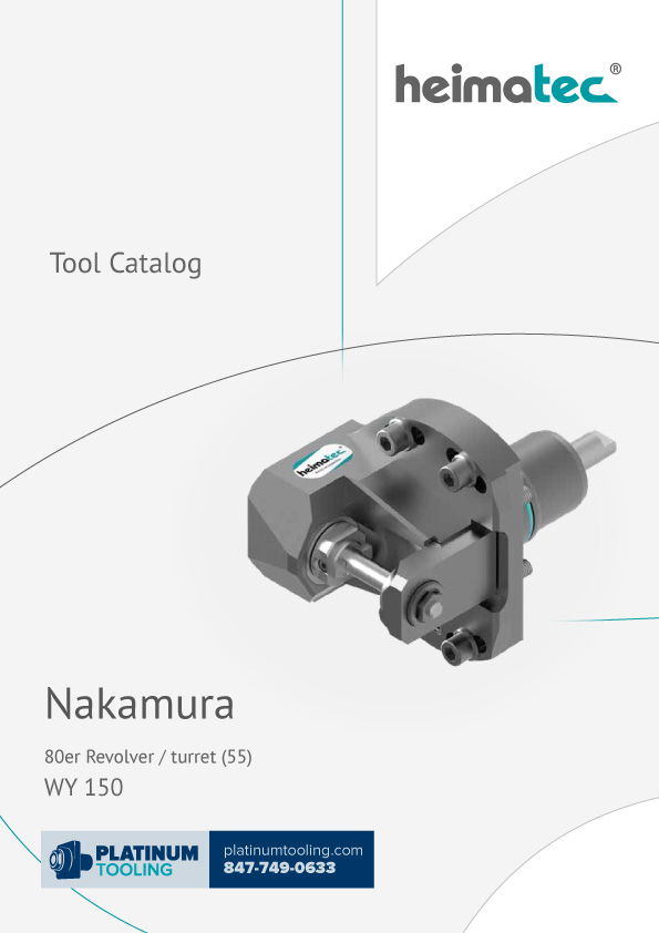 Nakamura WY 150 BMT 55 Heimatec Catalog for Live and Static Tools