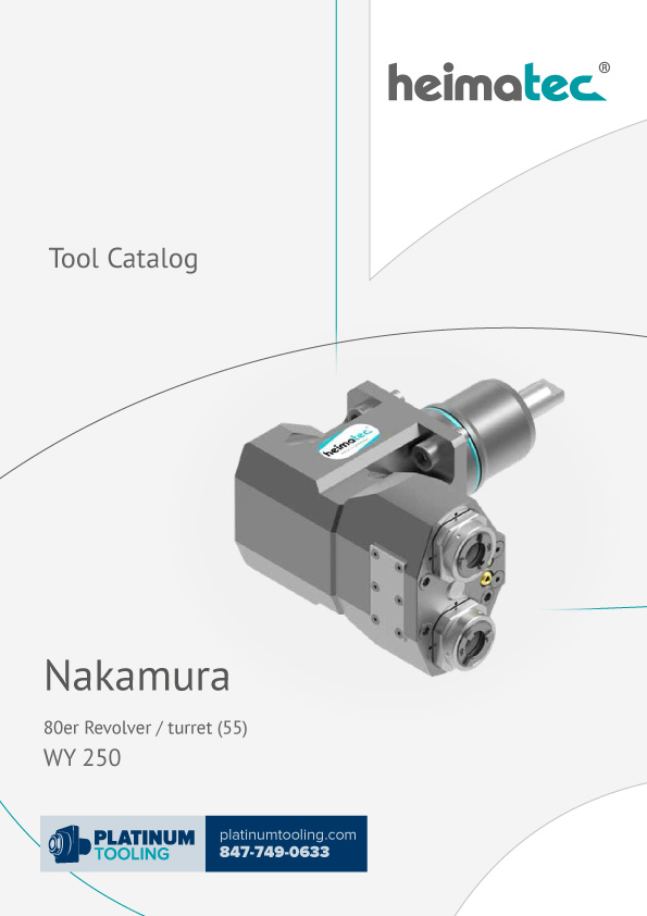Nakamura WY 250 BMT 55 Heimatec Catalog for Live and Static Tools