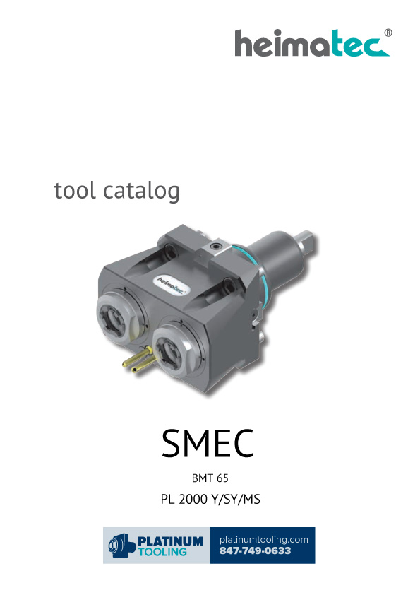 SMEC PL 2000 Y-SY-MS BMT 65 Heimatec Catalog for Live and Static Tools