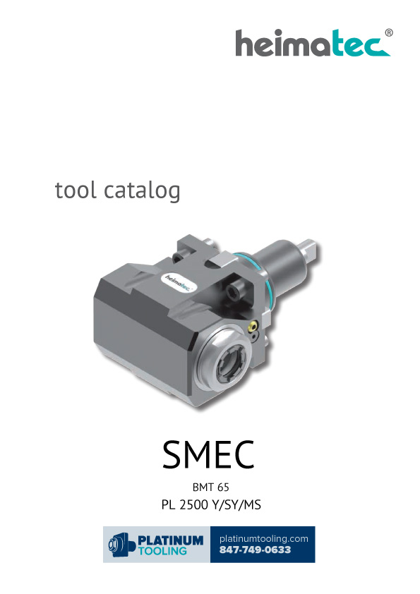 SMEC PL 2500 Y-SY-MS BMT 65 Heimatec Catalog for Live and Static Tools