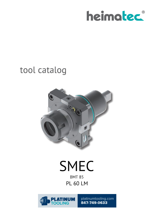SMEC PL 60 LM BMT 85 Heimatec Catalog for Live and Static Tools
