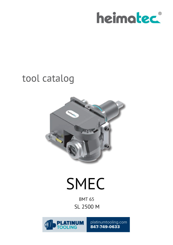 SMEC SL 2500 M BMT 65 Heimatec Catalog for Live and Static Tools