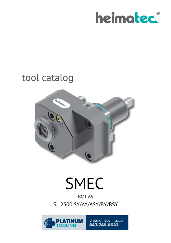 SMEC SL 2500 SY-AY-ASY-BY-BSY BMT 65 Heimatec Catalog for Live and Static Tools