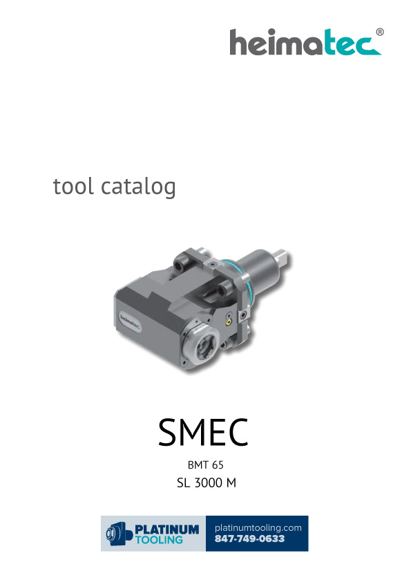 SMEC SL 3000 M BMT 65 Heimatec Catalog for Live and Static Tools