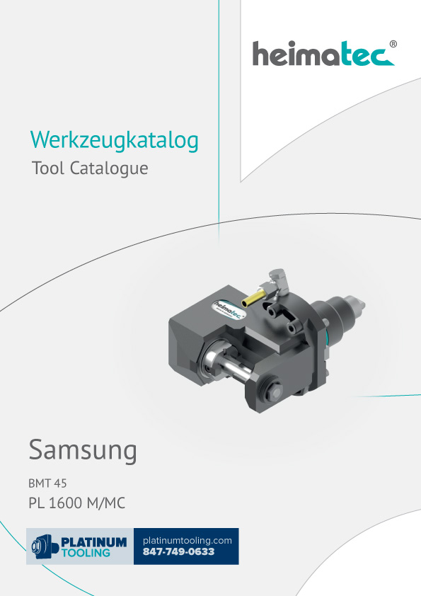 Samsung PL 1600 M-MC BMT 45 Heimatec Catalog for Live and Static Tools