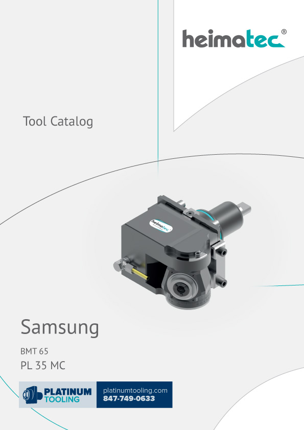 Samsung PL 35 MC BMT 65 Heimatec Catalog for Live and Static Tools
