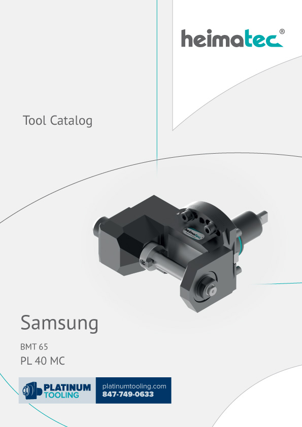 Samsung PL 40 MC BMT 65 Heimatec Catalog for Live and Static Tools