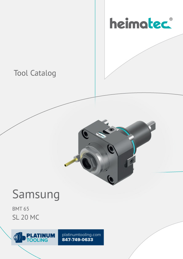 Samsung SL 20 MC BMT 65 Heimatec Catalog for Live and Static Tools