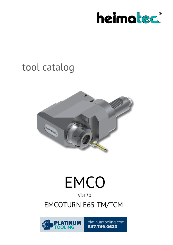 Emco MaxxTurn 65 VDI 30 Heimatec Catalog for Live and Static Tools