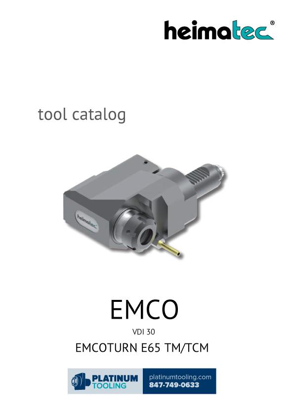 Emco MaxxTurn 65 VDI 30 Heimatec Catalog for Live and Static Tools