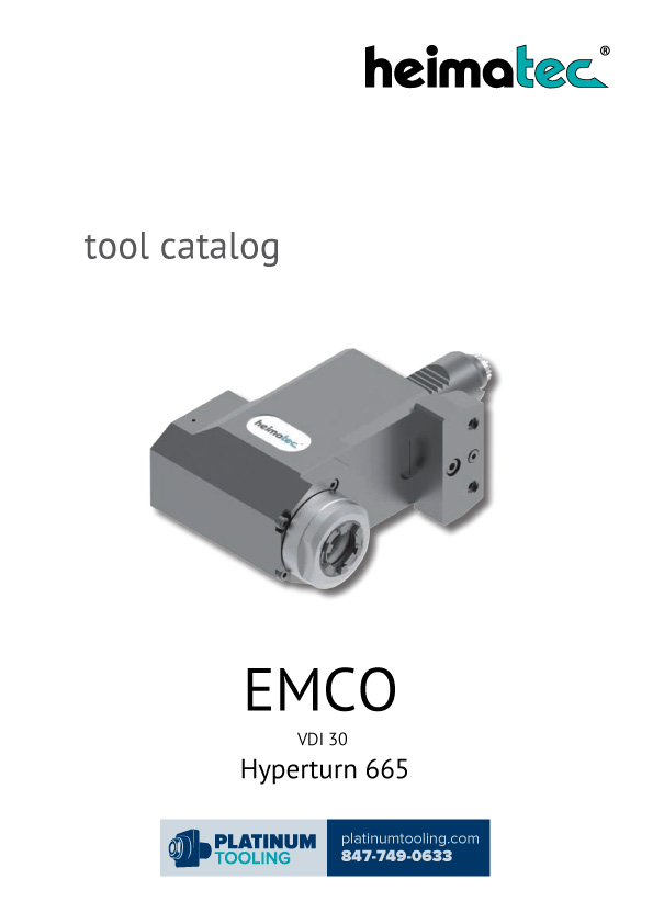 Emco Hyperturn 665 VDI 30 Heimatec Catalog for Live and Static Tools
