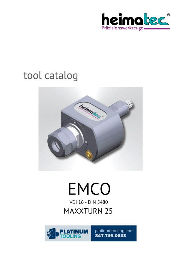 Emco MaxxTurn 25 VDI 16-DIN 5480 Heimatec Catalog for Live and Static Tools