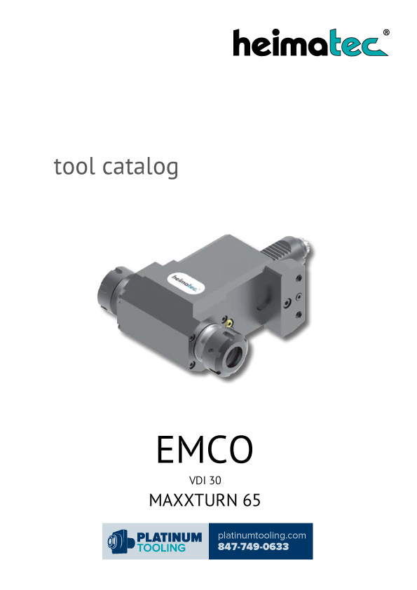 Emco EmcoTurn E65 TM-TCM VDI 30 Heimatec Catalog for Live and Static Tools
