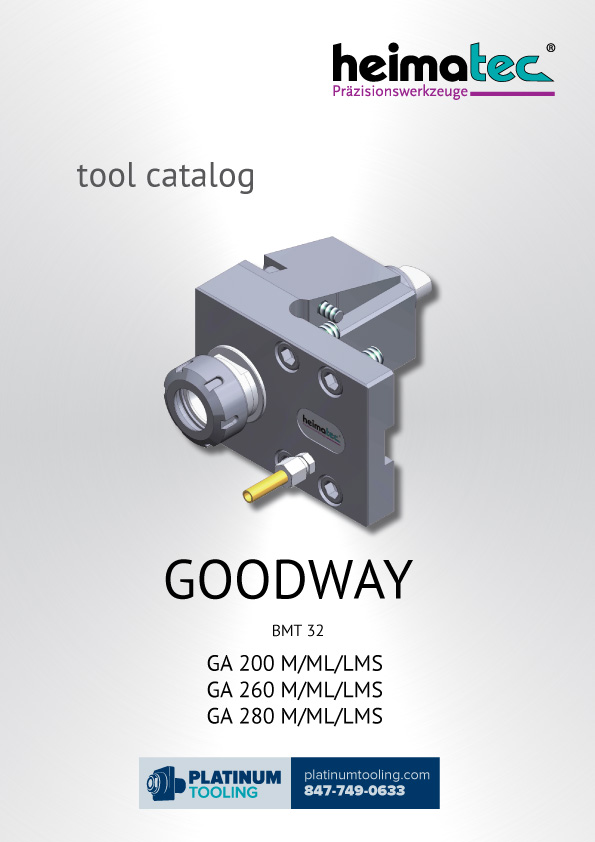 Goodway GA 200-260-280 M-ML-LMS BMT 32 Heimatec Catalog for Live and Static Tools