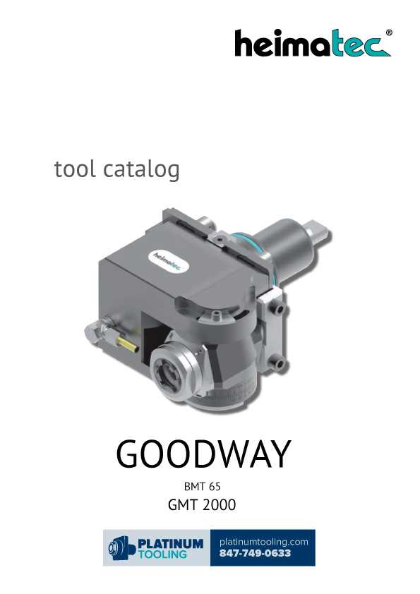 Goodway GMT 2000 BMT 65 Heimatec Catalog for Live and Static Tools