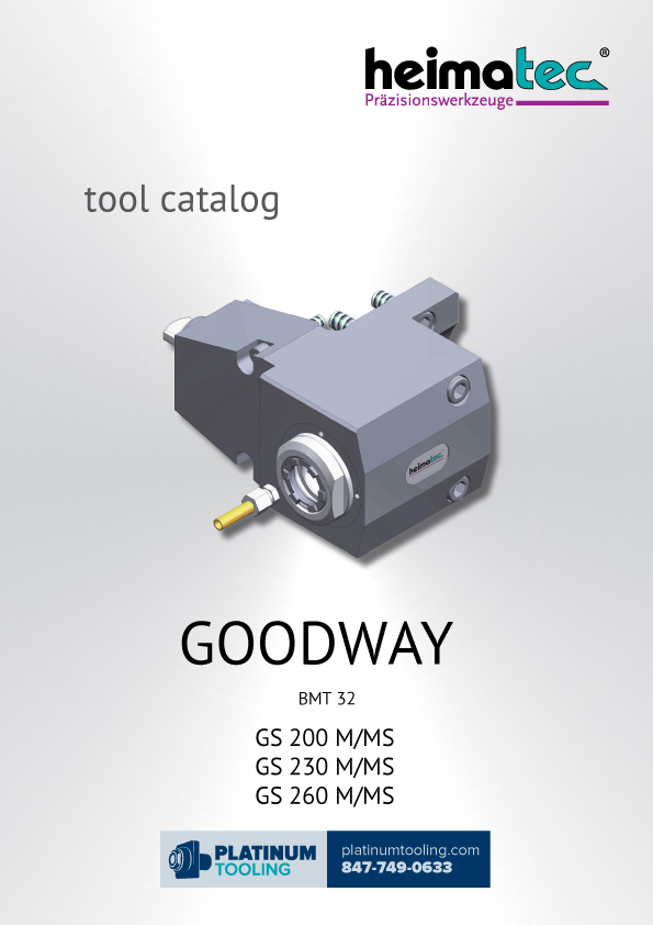 Goodway GS 200-230-260 M-MS BMT 32 Heimatec Catalog for Live and Static Tools