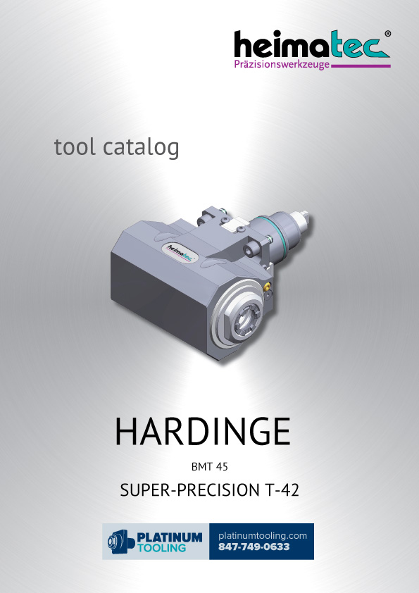 Hardinge Super-Precision T-42 Heimatec Catalog for Live and Static Tools