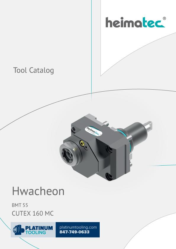 Hwacheon Cutex 160 MC BMT 55 Heimatec Catalog for Live and Static Tools