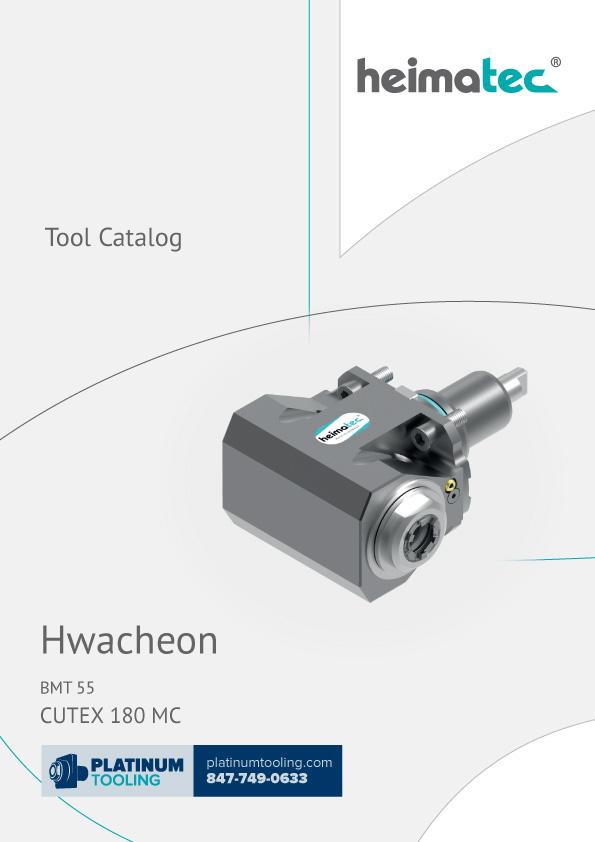 Hwacheon Cutex 180 MC BMT 55 Heimatec Catalog for Live and Static Tools