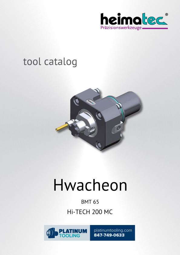 Hwacheon Hi-Tech 200 MC BMT 65 Heimatec Catalog for Live and Static Tools