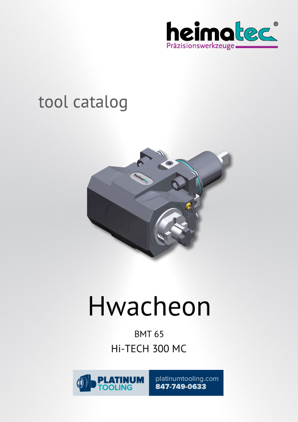 Hwacheon Hi-Tech 300 MC BMT 65 Heimatec Catalog for Live and Static Tools