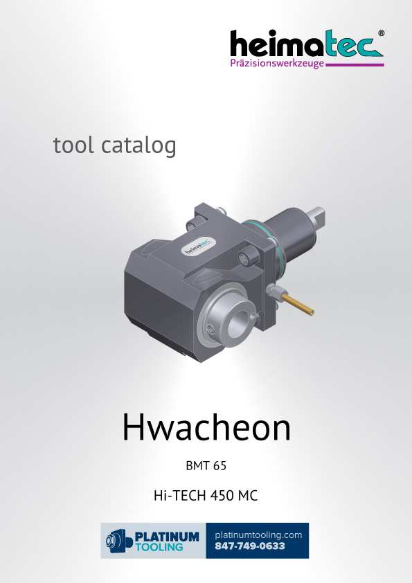 Hwacheon Hi-Tech 450 MC BMT 65 Heimatec Catalog for Live and Static Tools