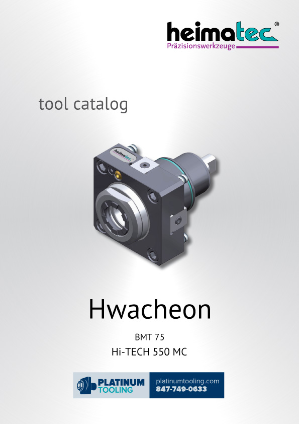 Hwacheon Hi-Tech 550 MC BMT 75 Heimatec Catalog for Live and Static Tools