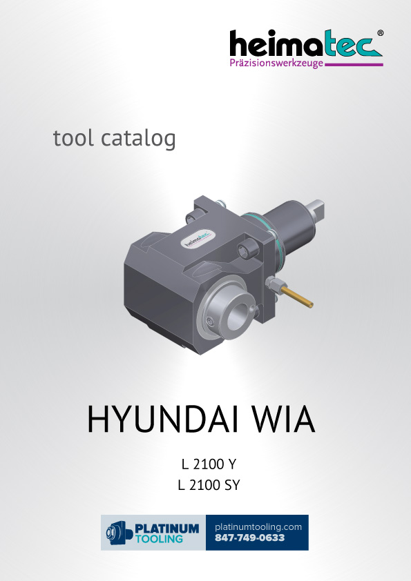 Hyundai Wia L2100Y(SY) Heimatec Catalog for Live and Static Tools