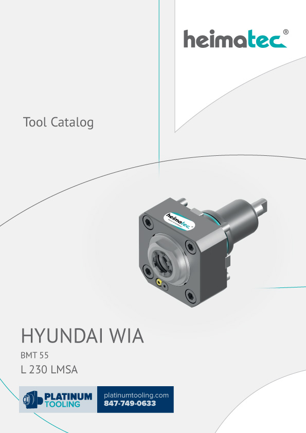 Hyundai Wia L230 LMSA Heimatec Catalog for Live and Static Tools