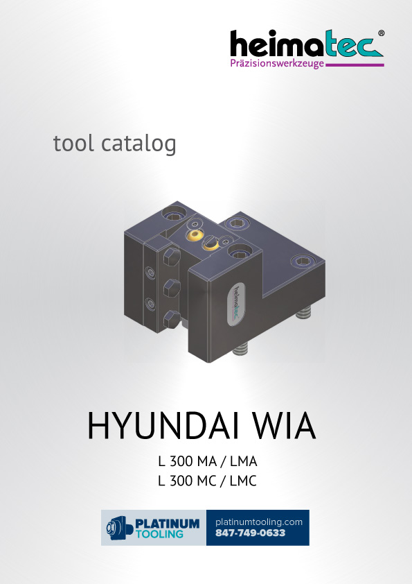 Hyundai Wia L300 MA-LMA-MC-LMC Heimatec Catalog for Live and Static Tools