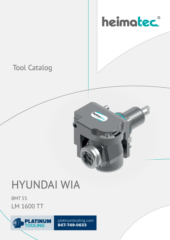 Hyundai Wia LM1600TT Heimatec Catalog for Live and Static Tools