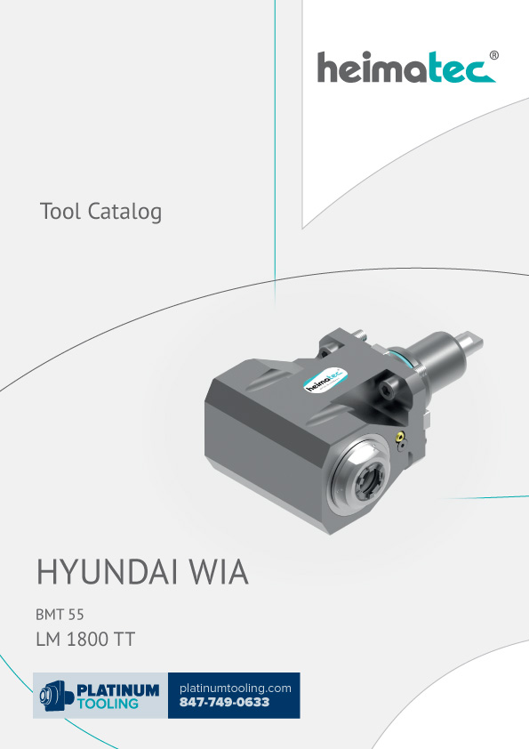 Hyundai Wia LM1800TT Heimatec Catalog for Live and Static Tools