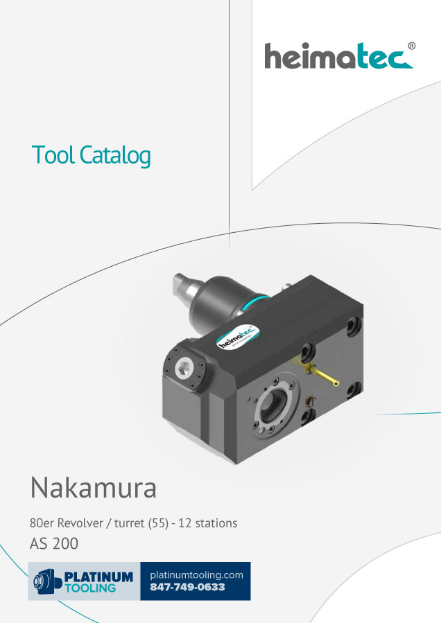 Nakamura AS 200-12 Station BMT 55 Heimatec Catalog for Live and Static Tools